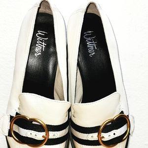 Wittner shoes Black White Buckle 37
